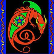 Witches Dragon Art Print
