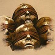 Some Heads Art Print