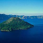 Wizard Island In Crater Lake, Oregon Art Print