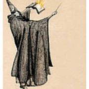 Wizard Of Orange Art Print