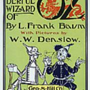 Wizard Of Oz Book Cover  1900 Art Print