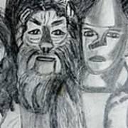 Wizard Of Oz Friends Art Print
