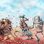 Wizard Of Oz - Poppy Field Art Print