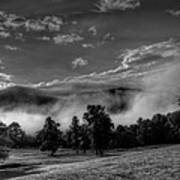 Wnc Morning In Black And White Art Print
