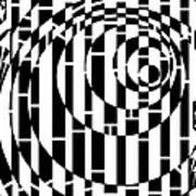 Wobbly Circles Maze  Art Print
