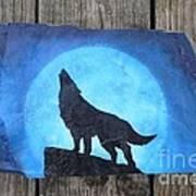 Wolf Howl2 Art Print