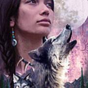 Wolf Montage Print by Garry Walton