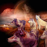 Wolf Mountain Art Print