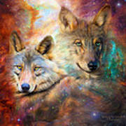 Wolf - Spirit Of The Universe Art Print