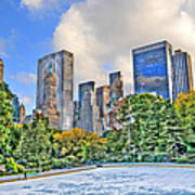 Wollman Rink In Central Park Art Print