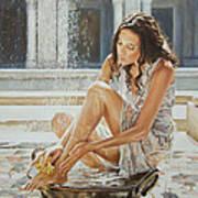 Woman Bathing 2013 Art Print