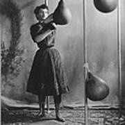 Woman Boxing Workout Art Print by Underwood Archives