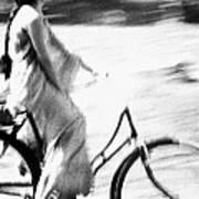 Woman Cycling Art Print