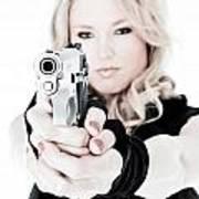 Woman Defense Art Print