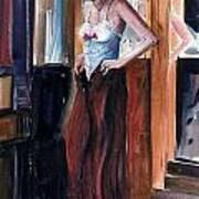 Woman Dressed Art Print