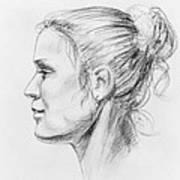Woman Head Study Art Print