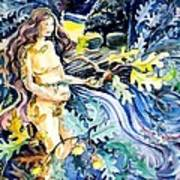 Woman Holding An Acorn -  Art Print by Trudi Doyle