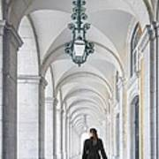 Woman In Archway  Art Print
