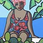 Woman In Bathing Suit 4 Art Print