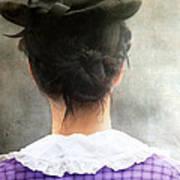 Woman In Black Hat Art Print
