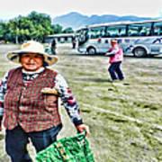 Woman In China Art Print