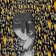 Woman In Flames Art Print