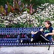 Woman In Wicker Park Art Print by Shawn Lyte