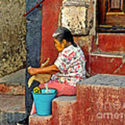 Woman Of Colonial Mexico Art Print