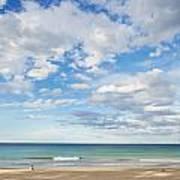 Woman On Manly Beach In Sydney Australia Art Print