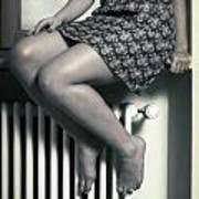 Woman On Window Sill Art Print by Joana Kruse