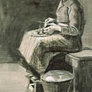 Woman Peeling Potatoes, 1882 Art Print