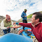 Woman Serving Appetizers, Alsek River Art Print