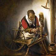Woman Spinning Art Print