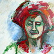 Woman With A Hat - Anne Iv Art Print