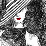 Woman With A Hat Art Print