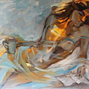 Woman With Book Art Print by Nelya Shenklyarska