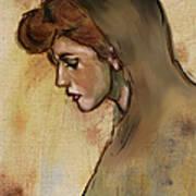 Woman With Hood Art Print