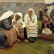 Women Outside The Church - Finland Art Print