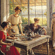 Women Taking Tea Art Print