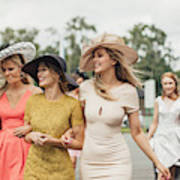 Women Walking to Racecourse Art Print