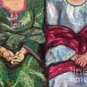 Women Wearing Shawls II Art Print