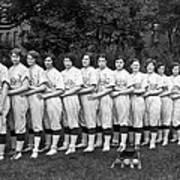 Women's Baseball Team Art Print
