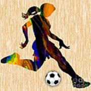 Women's Soccer Art Print