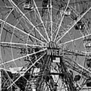 Wonder Wheel Of Coney Island In Black And White Art Print