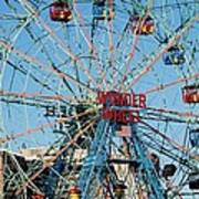 Wonder Wheel Of Coney Island Art Print