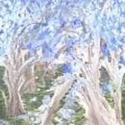 Wondering Through Trees Art Print