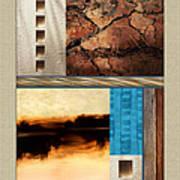 Wood And Stone Rectangular Textures Art Print