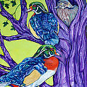 Wood Duck Tree Art Print