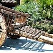 Wood Hand Cart II Art Print