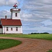 Wood Islands Lighthouse - Pei Art Print